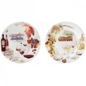 Bouquet Dessert Plates Vin / Set 4