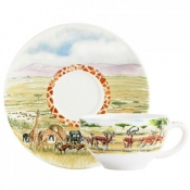 Safari Breakfast Cup & Saucer / Box of 2