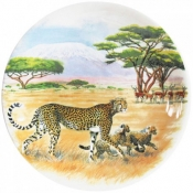 Safari Dessert Plate - Cheetah