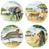 Safari Dessert Plates - Set of 4 Assorted