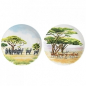 Safari Canape Plates - Set of 4 Assorted