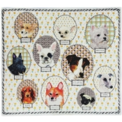 Darling Dog Square Plate - 11""