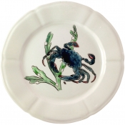 Gien Grands Crustaces Salad Plate - Blue Crab / Set 4