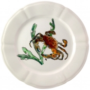 Gien Grands Crustaces Salad Plate - Red Crab / Set 4