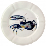 Gien Grands Crustaces Salad Plate - Blue Lobster