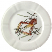 Gien Grands Crustaces Salad Plate - Shrimp / Set 4