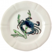 Gien Grands Crustaces Dinner Plate - Blue Crab / Set 4