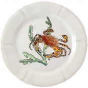 Gien Grands Crustaces Dinner Plate - Red Crab / Set 4