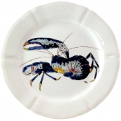 Gien Grand Crustaces Dinner Plate - Lobster