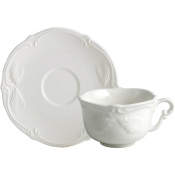 Rocaille White Tea Cups & Saucers - Set 2