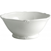 Rocaille White Open Vegetable Bowl