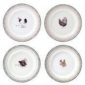 Canape Plates - Set 4 Assorted