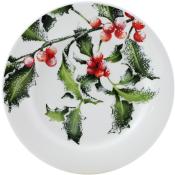 Gien Holly Canape Plate - 6.5""