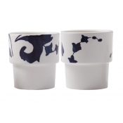 Gien Indigo Stacking Cups