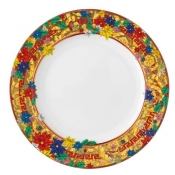 Versace Christmas Holiday Alphabet Salad Plate - 8.5""