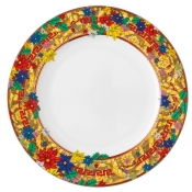 Versace Christmas Holiday Alphabet Dinner Plate - 10.25""
