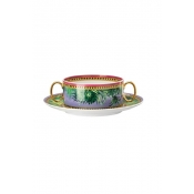 Versace Jungle Animalier Cream Soup Cup & Saucer