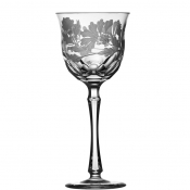 Derby Panel Accent Clear Water Goblet