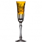 Derby Panel Accent Amber Champagne Flute
