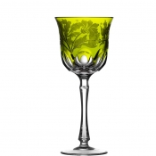 Derby Panel Accent Yellow/Green Water Goblet