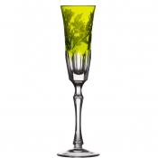 Derby Panel Accent Yellow/Green Champagne Flute