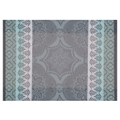 "Le Jacquard Francais Bastide Grey Coated Placemat-21"" x 15"" - Set 4"