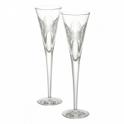 "Waterford Wishes ""Anniversary"" Toasting Flutes - Pair"