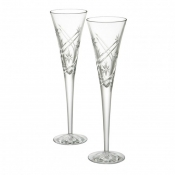 "Waterford Wishes ""Achievements"" Toasting Flutes - Pair"
