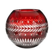 Meg Cased Ruby Rose Bowl - 12""