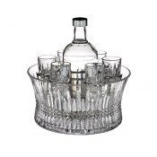 Waterford Lismore Diamond Vodka Set In Chill Bowl
