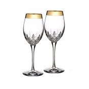 Lismore Essence Wide Gold Band Wine - Pair
