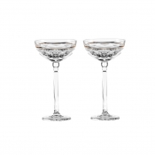 Elysian Champagne Coupe (Clear) - Pair