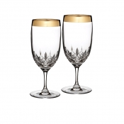 Lismore Essence Wide Gold Band Iced Beverage - Pair