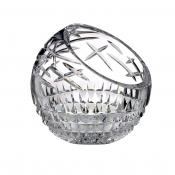 Cleo Angled Rose Bowl - Clear - 8""