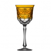Regency Amber Water Goblet