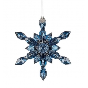 2016 Baccarat Snowflake Ornament - Blue