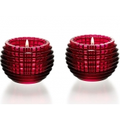 Baccarat Red Eye Votive - Red Boxed Pair
