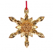 2017 Baccarat  20K Gold Snowflake Ornament