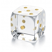 Baccarat Dice Paperweight