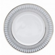 Arcades Grey & Platinum Dinner Plate