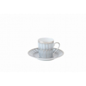 Arcades Grey & Platinum Coffee Saucer