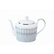 Arcades Grey & Platinum Tea Pot - Round