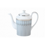Arcades Grey & Platinum Coffee Pot - Round