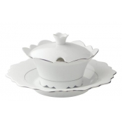 Sauce Boat with Crown Button