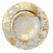 White & Gold Accent Plate
