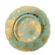 Turquoise & Gold Accent Plate