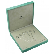 Spheric Set of Six Hors D'Oeuvre Picks in a Case