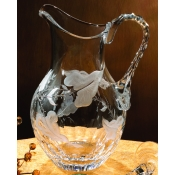 Varga Crystal Rain Forest Water Glass Pitcher