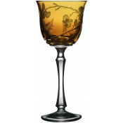 Varga Crystal Rain Forest Water Glass - Amber