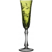 Varga Crystal Rain Forest Champagne Flute - Yellow/Green